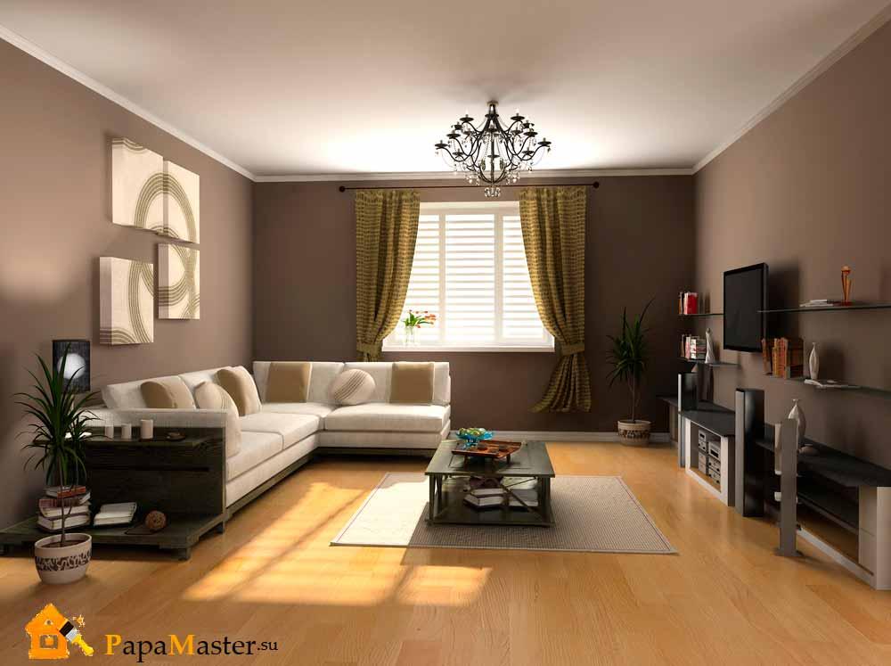 Варианты дизайна зала в квартире4