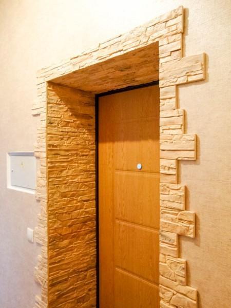 Варианты отделки дверного проема0