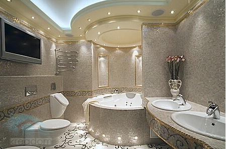Влагозащитные светильники в ванной6