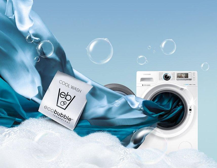 Воздушно-пузырьковая стиральная машина и функция eco bubble0