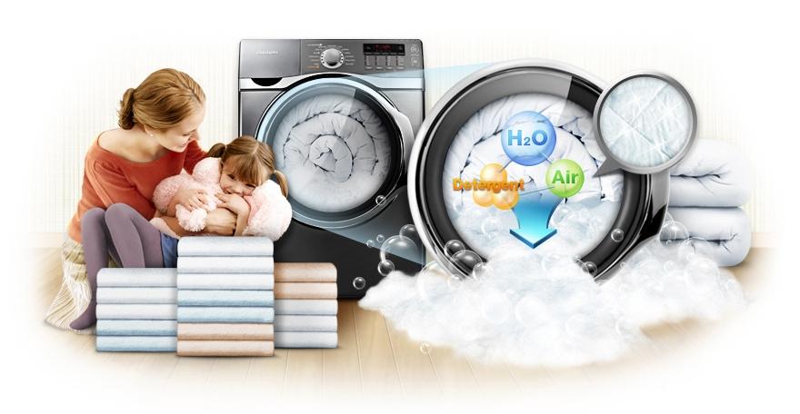 Воздушно-пузырьковая стиральная машина и функция eco bubble2