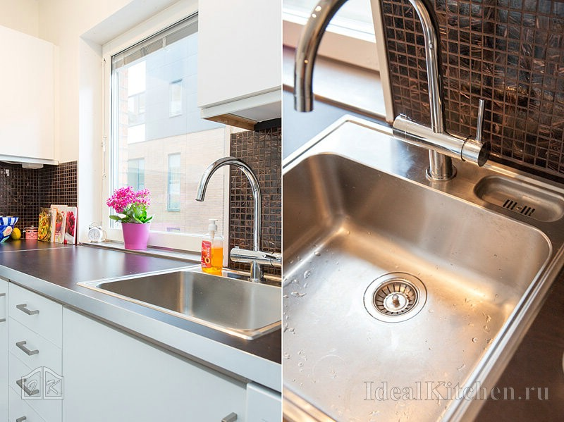 Выбираем кухонную мойку: нержавейка или гранит?5