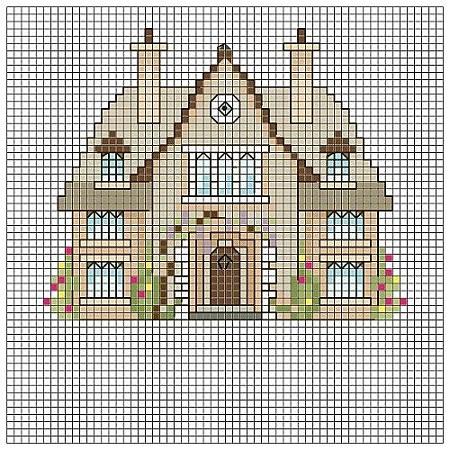 Вышивка крестом схемы домов: мини-схемы с новым годом, можно ли хранить, исполнение желаний, разрез делать5