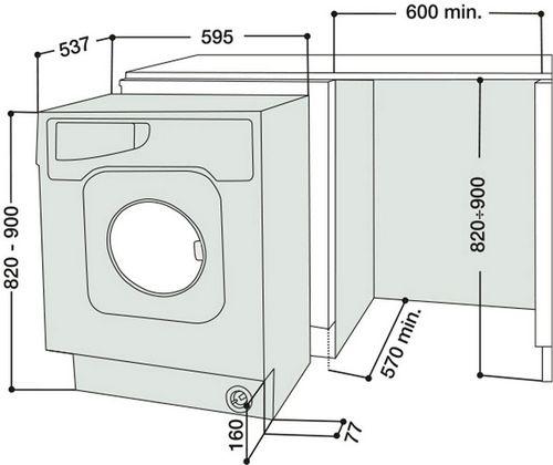 Высота стиральной машины1