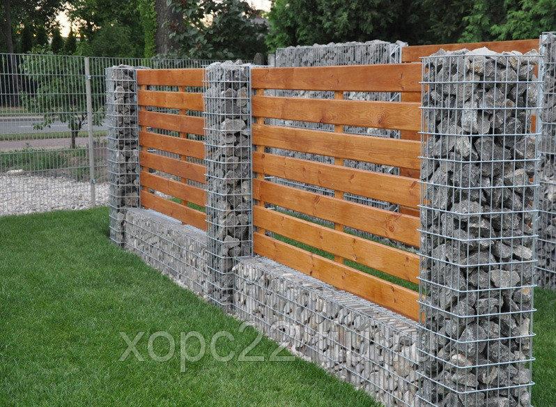 Забор из габионов0