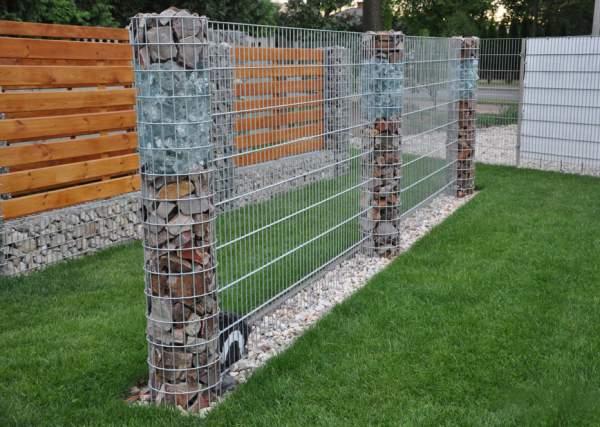 Забор из габионов2