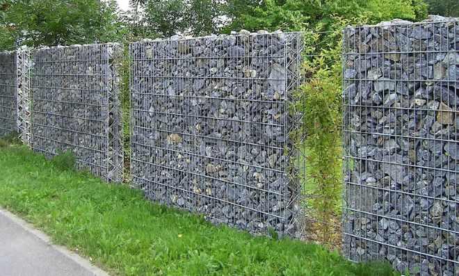 Забор из габионов4
