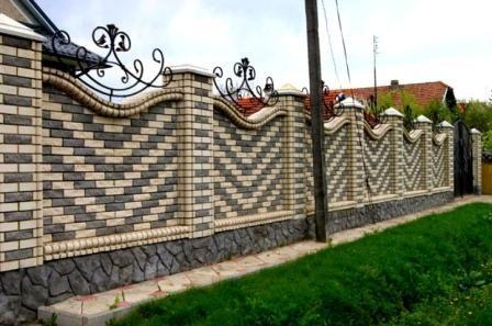 Забор из кирпича4