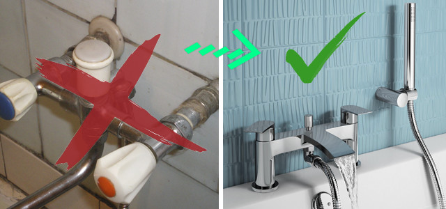 Замена смесителя в ванной6