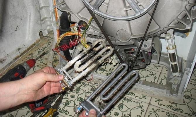 Замена тэна в стиральной машине1