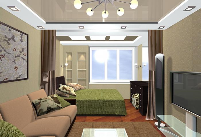 Зонирование комнаты шторами: разумное распределение пространства0