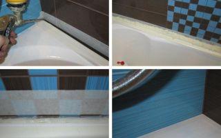 Как установить на ванну пластиковый уголок своими руками?