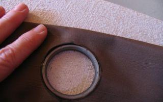 Как вшить люверсы в шторы: большие и мелкие, как вшить кольца