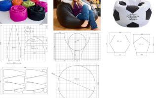 Как сшить удобное кресло мешок своими руками
