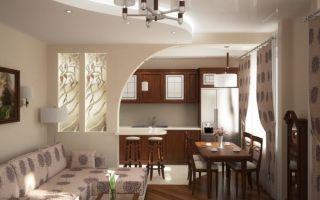 Как сделать разделение кухни и гостиной?