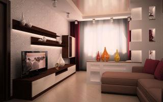 Как выполнить дизайн зала в панельном доме?