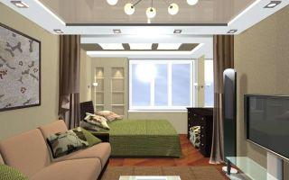 Как при помощи разных приемов объединить спальню и гостиную?