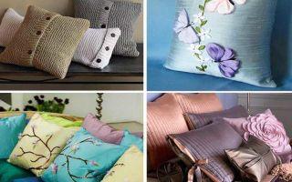 Делаем подушечки для дивана своими руками