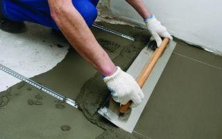 Как выровнять пол под плитку: стяжка своими руками