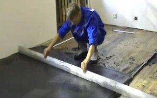 Стяжка на деревянный пол под плитку: как залить