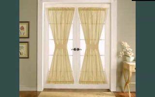 Шторы на двери своими руками: особенности декорирования