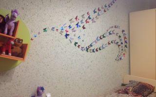 Использование жидких обоев для отделки детской комнаты