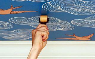 Фотообои на потолок: правила поклейки