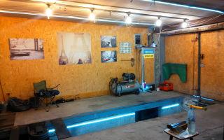 Освещение гаража своими руками