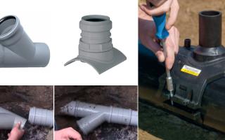 Как правильно врезаться в канализационную трубу?