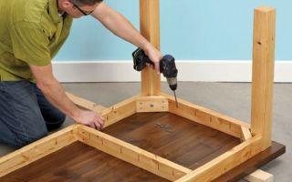 Как изготовить стол из дерева своими руками