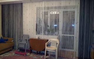 Как выглядят нитяные шторы в интерьере