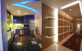 Освещение комнаты и коридора светодиодной лентой