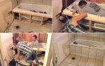 Как установить и закрепить ванну