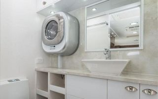 Настенные стиральные машины – отличное решение для маленькой ванной