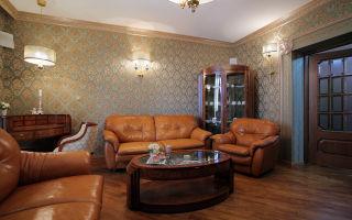 Как разработать интерьер гостиной с кожаной мебелью?
