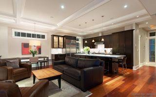 Особенности интерьера гостиной, совмещенной с кухней