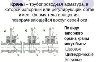 Сравнительные характеристики запорной арматуры