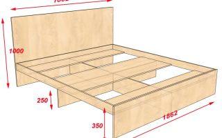 Кровать своими руками: чертежи и схема работы (фото)
