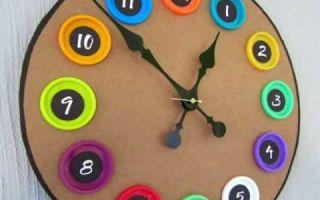 Как сделать часы своими руками из подручных средств (3 мастер-класса)