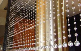 Хрустальные шторы в интерьере помещений