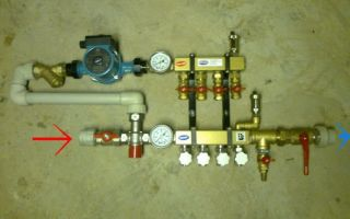 Термоголовка для теплого пола: установка трехходового клапана