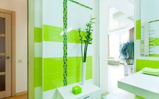 Салатовая ванная комната – весеннее пробуждение