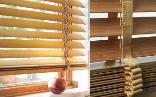 Бамбуковые жалюзи, горизонтальные и вертикальные, как вариант декора