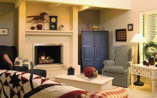Дизайн спальни с камином: стиль кантри и китч в частном доме (фото)
