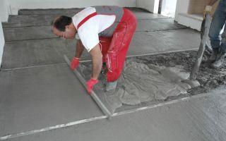 Бетонная стяжка: пол как сделать, устройство и технология своими руками, марка бетона для заливки