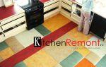 Что лучше положить на пол на кухне: что можно постелить, как выбрать материал, как класть, видео-инструкция