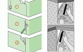 Как правильно клеить обои в углах: флизелиновые и виниловые обои