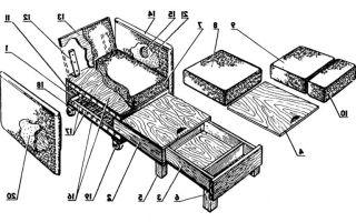 Как сделать кресло кровать своими руками
