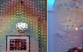 Как украсить шторы своими руками при помощи декупажа и подручных средств: шторы из подручных материалов
