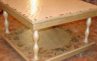 Как произвести реставрацию журнального стола своими руками?